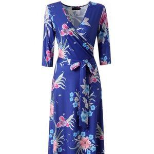 Long Floral Maxi Dress - Medium